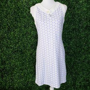 J. McLaughlin Purple, White Woven Weave Mini Dress